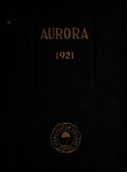 Page 1, 1921 Edition, Manchester College - Aurora Yearbook (North Manchester, IN) online yearbook collection