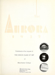 Page 7, 1937 Edition, Manchester College - Aurora Yearbook (North Manchester, IN) online yearbook collection