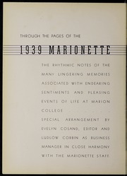Page 8, 1939 Edition, Marion University - Marionette Yearbook (Marion, IN) online yearbook collection