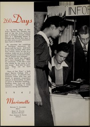 Page 8, 1942 Edition, Marion University - Marionette Yearbook (Marion, IN) online yearbook collection