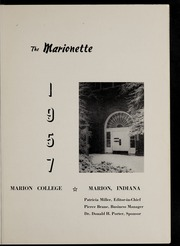 Page 5, 1957 Edition, Marion University - Marionette Yearbook (Marion, IN) online yearbook collection