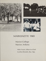 Page 5, 1969 Edition, Marion University - Marionette Yearbook (Marion, IN) online yearbook collection