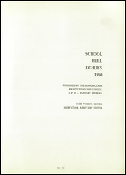 Page 5, 1950 Edition, Baugo Township High School - School Bell Echoes Yearbook (Elkhart, IN) online yearbook collection
