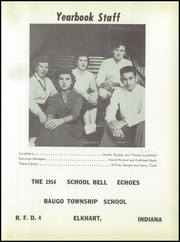 Page 5, 1954 Edition, Baugo Township High School - School Bell Echoes Yearbook (Elkhart, IN) online yearbook collection