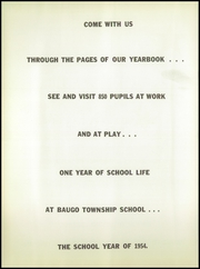 Page 6, 1954 Edition, Baugo Township High School - School Bell Echoes Yearbook (Elkhart, IN) online yearbook collection