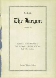 Page 5, 1927 Edition, Judyville High School - Jargon Yearbook (Judyville, IN) online yearbook collection