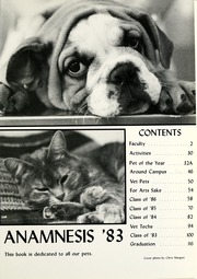 Page 5, 1983 Edition, Purdue University School of Veterinary Medicine - Anamnesis Yearbook (West Lafayette, IN) online yearbook collection