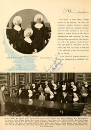 Page 16, 1948 Edition, Saint Marys College - Blue Mantle Yearbook (Notre Dame, IN) online yearbook collection