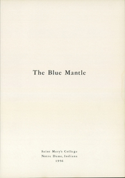 Page 5, 1956 Edition, Saint Marys College - Blue Mantle Yearbook (Notre Dame, IN) online yearbook collection