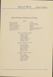 Page 12, 1918 Edition, University of Chicago - Cap and Gown Yearbook (Chicago, IL) online yearbook collection