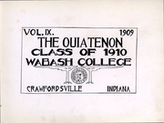 Page 3, 1910 Edition, Wabash College - Wabash Yearbook (Crawfordsville, IN) online yearbook collection