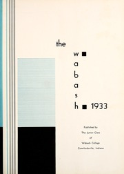Page 7, 1933 Edition, Wabash College - Wabash Yearbook (Crawfordsville, IN) online yearbook collection