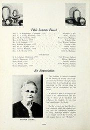 Page 12, 1937 Edition, Fort Wayne Bible College - Light Tower Yearbook (Fort Wayne, IN) online yearbook collection