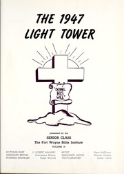 Page 5, 1947 Edition, Fort Wayne Bible College - Light Tower Yearbook (Fort Wayne, IN) online yearbook collection