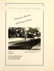 Page 5, 1987 Edition, Fort Wayne Bible College - Light Tower Yearbook (Fort Wayne, IN) online yearbook collection