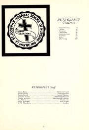 Page 7, 1968 Edition, St Joseph Hospital School of Nursing - Retrospect Yearbook (Fort Wayne, IN) online yearbook collection
