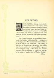Page 10, 1931 Edition, Indiana Wesleyan University - Marionette Yearbook (Marion, IN) online yearbook collection