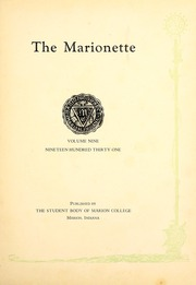 Page 7, 1931 Edition, Indiana Wesleyan University - Marionette Yearbook (Marion, IN) online yearbook collection