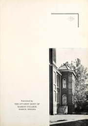 Page 9, 1936 Edition, Indiana Wesleyan University - Marionette Yearbook (Marion, IN) online yearbook collection