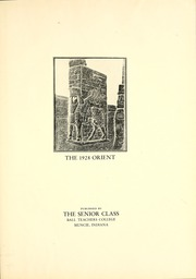 Page 7, 1928 Edition, Ball State University - Orient Yearbook (Muncie, IN) online yearbook collection