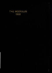 1922 Edition, Rose Hulman Institute of Technology - Modulus Yearbook (Terre Haute, IN)