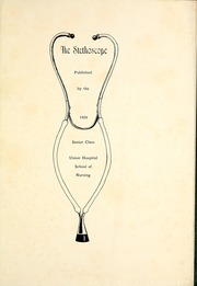 Page 5, 1929 Edition, Union Hospital School of Nursing - Stethoscope Yearbook (Terre Haute, IN) online yearbook collection