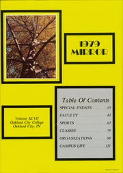 Page 5, 1979 Edition, Oakland City University - Mirror Yearbook (Oakland City, IN) online yearbook collection