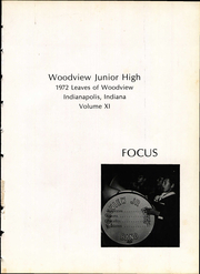 Page 5, 1972 Edition, Woodview Junior High School - Focus Yearbook (Indianapolis, IN) online yearbook collection