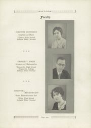 Page 13, 1929 Edition, Bridgeton High School - Raccoon Yearbook (Bridgeton, IN) online yearbook collection