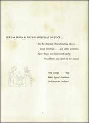 Page 7, 1951 Edition, St Agnes Academy - Crest Yearbook (Indianapolis, IN) online yearbook collection