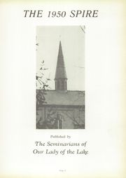 Page 7, 1950 Edition, Our Lady of the Lake Seminary - Spire Yearbook (Syracuse, IN) online yearbook collection