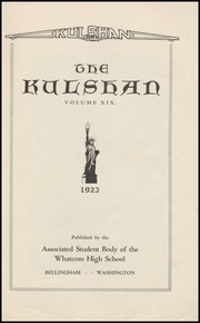 Page 7, 1923 Edition, Whatcom High School - Kulshan Yearbook (Bellingham, WA) online yearbook collection