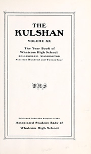 Page 9, 1924 Edition, Whatcom High School - Kulshan Yearbook (Bellingham, WA) online yearbook collection