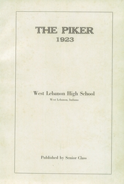 Page 5, 1923 Edition, West Lebanon High School - Piker Yearbook (West Lebanon, IN) online yearbook collection