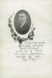 Page 6, 1923 Edition, West Lebanon High School - Piker Yearbook (West Lebanon, IN) online yearbook collection