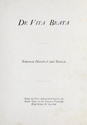Page 11, 1916 Edition, Concord Township High School - De Vita Beata Yearbook (St Joe, IN) online yearbook collection