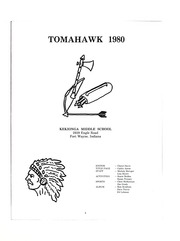 Page 7, 1980 Edition, Kekionga Middle School - Tomahawk Yearbook (Fort Wayne, IN) online yearbook collection