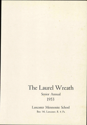 Page 5, 1953 Edition, Lancaster Mennonite High School - Laurel Wreath Yearbook (Lancaster, PA) online yearbook collection