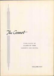 Page 7, 1936 Edition, Nazareth Area High School - Comet Yearbook (Nazareth, PA) online yearbook collection