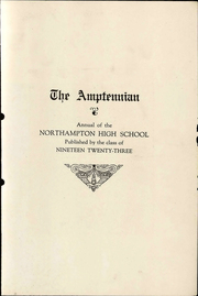 Page 5, 1923 Edition, Northampton Area High School - Amptennian Yearbook (Northampton, PA) online yearbook collection