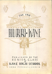 Page 9, 1931 Edition, Kane Area High School - HurriKane Yearbook (Kane, PA) online yearbook collection