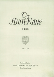 Page 5, 1933 Edition, Kane Area High School - HurriKane Yearbook (Kane, PA) online yearbook collection