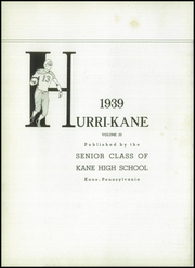 Page 6, 1939 Edition, Kane Area High School - Hurri Kane Yearbook (Kane, PA) online yearbook collection