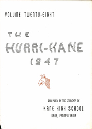 Page 7, 1947 Edition, Kane Area High School - HurriKane Yearbook (Kane, PA) online yearbook collection