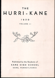Page 7, 1950 Edition, Kane Area High School - HurriKane Yearbook (Kane, PA) online yearbook collection