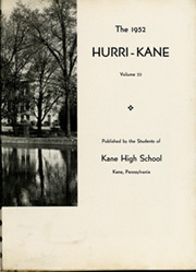 Page 7, 1952 Edition, Kane Area High School - HurriKane Yearbook (Kane, PA) online yearbook collection