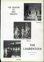 Page 5, 1964 Edition, Laurens High School - Laurentian Yearbook (Laurens, IA) online yearbook collection