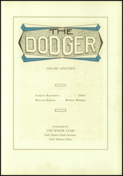 Page 7, 1930 Edition, Fort Dodge High School - Dodger Yearbook (Fort Dodge, IA) online yearbook collection