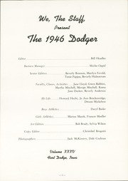 Page 7, 1946 Edition, Fort Dodge High School - Dodger Yearbook (Fort Dodge, IA) online yearbook collection