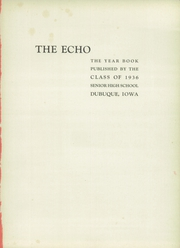 Page 5, 1936 Edition, Dubuque High School - Echo Yearbook (Dubuque, IA) online yearbook collection